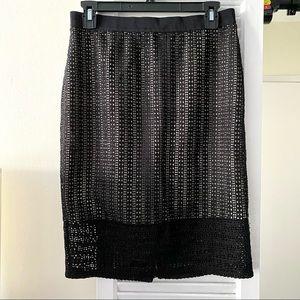 Ann Taylor Black Lace Overlay Skirt